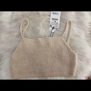 Zara Knit Crop Top S